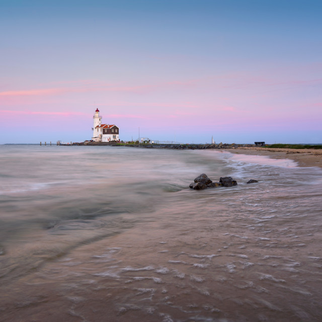 """The Lighthouse of Marken"" stock image"