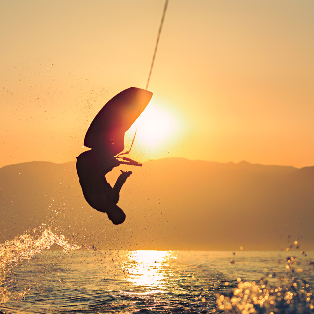 """Wakeboard - sunrise"" stock image"