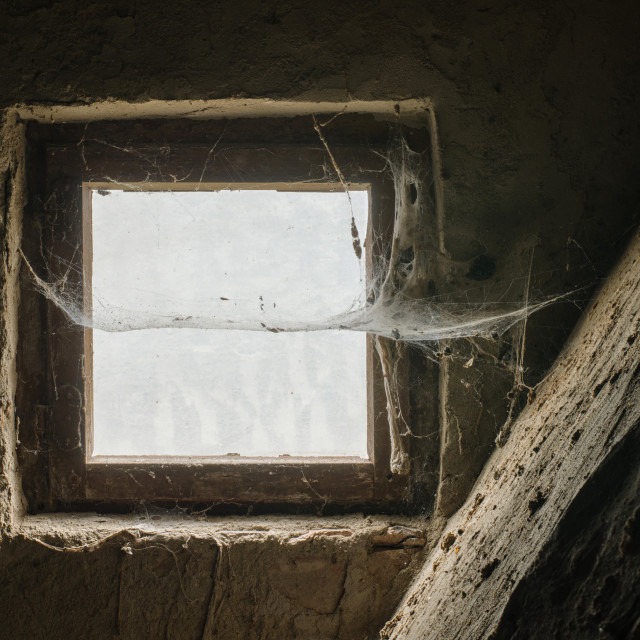 """Old Window In Stone Wall"" stock image"
