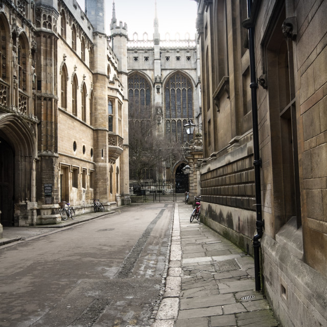 """Trinity Lane, Cambridge"" stock image"