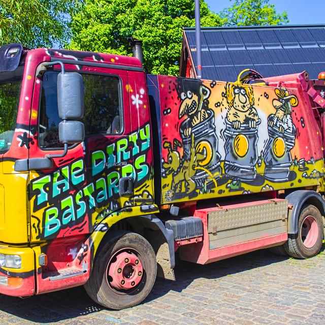 """Wicked bin lorry"" stock image"