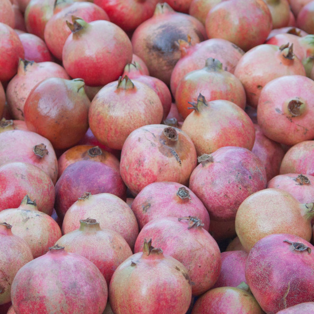 """""""Display of Pomegranetes"""" stock image"""