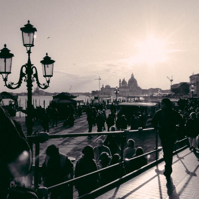 """Venice Crowd"" stock image"