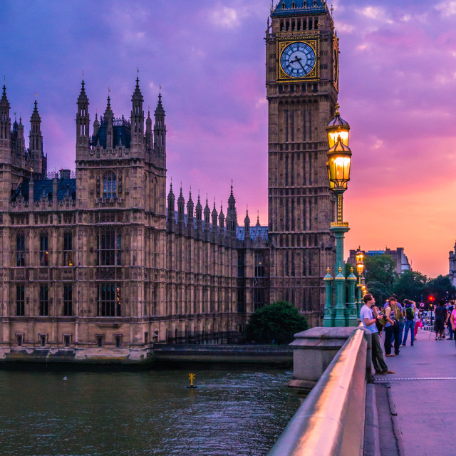 """London Dusk"" stock image"