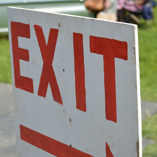 """Exit sign."" stock image"