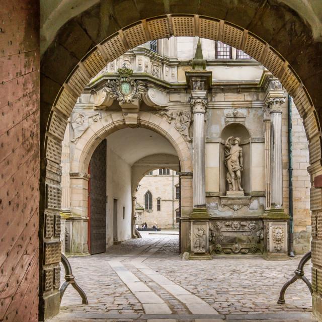 """Gateway into Kronborg castle"" stock image"
