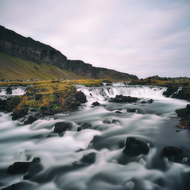 """Iceland waterfall"" stock image"