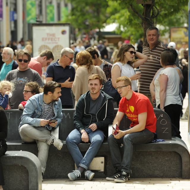 """""""Chilling on town"""" stock image"""