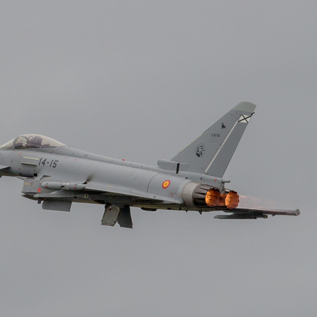 """""""EF-2000 from the Spanish Air Force"""" stock image"""