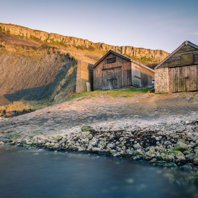 """""""The Boat Houses"""" stock image"""