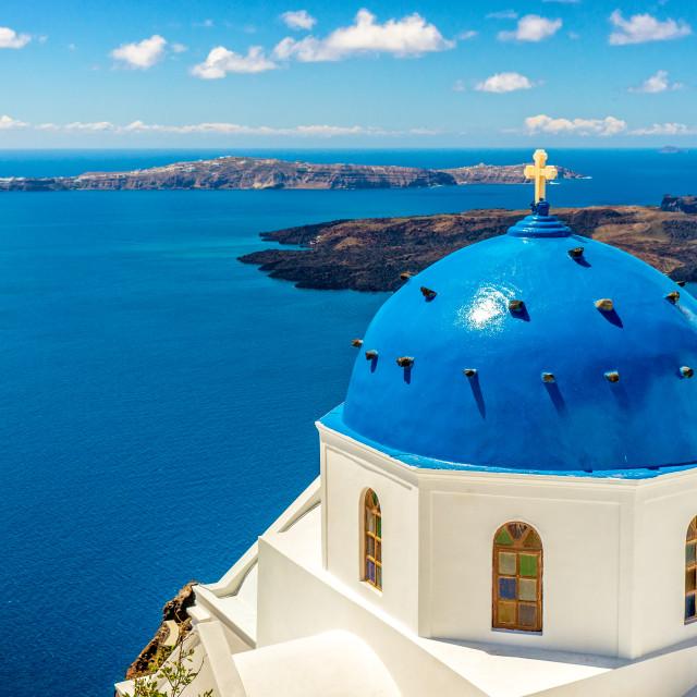 """Landscape Santorini Island, Cyclades, Greece"" stock image"