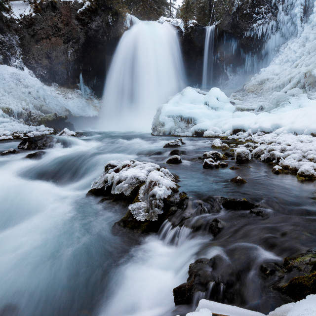 """Icy Waterfall"" stock image"