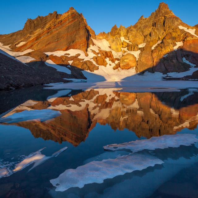 """""""Ice Sheets Float on Lake"""" stock image"""