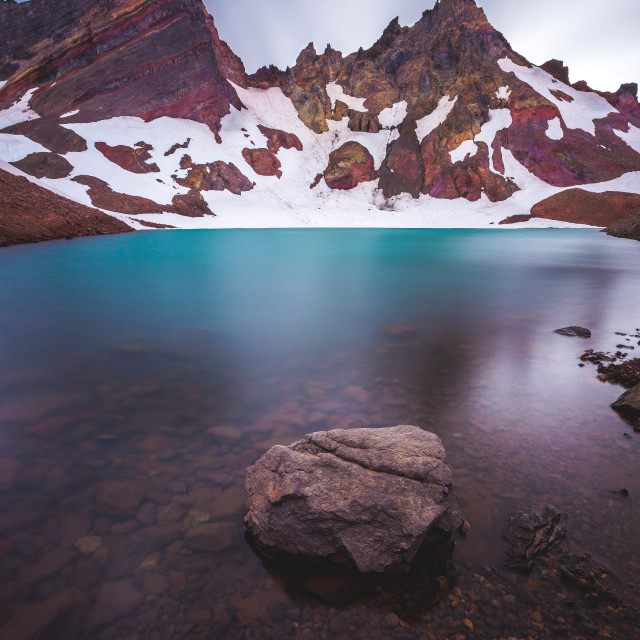 """Glacier Lake"" stock image"