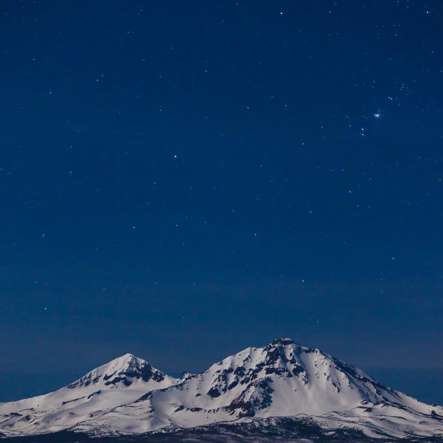 """Moonlit Mountains"" stock image"