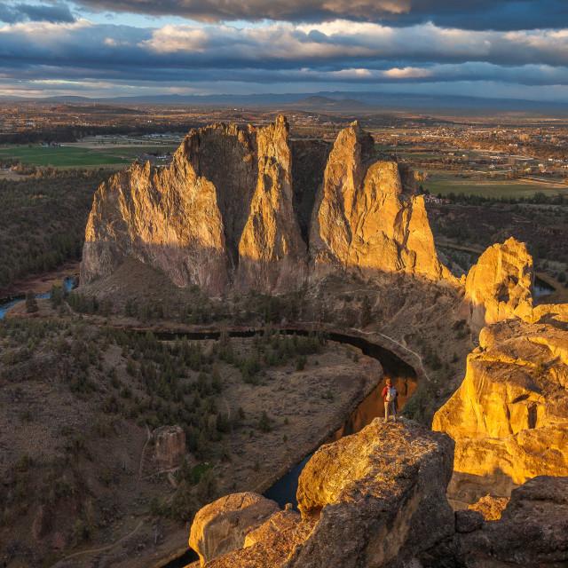 """""""Smith Rock Sunrise"""" stock image"""