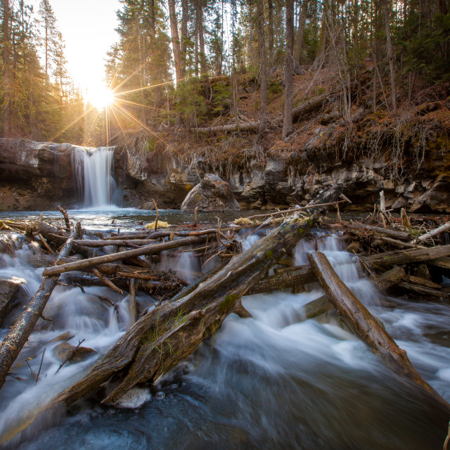"""Waterfall Exploring"" stock image"