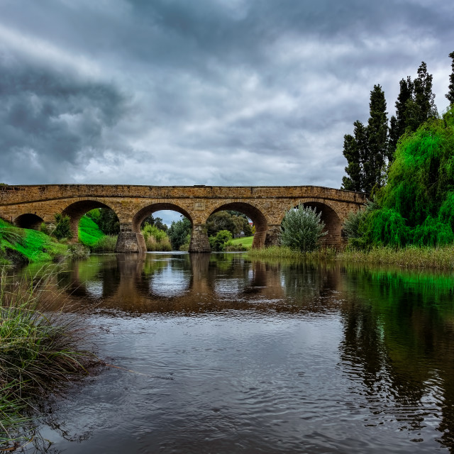 """Old Stone Bridge Richmond Tasmania"" stock image"