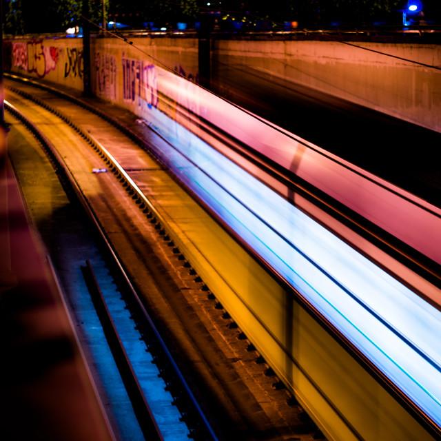 """Ghost Tram"" stock image"