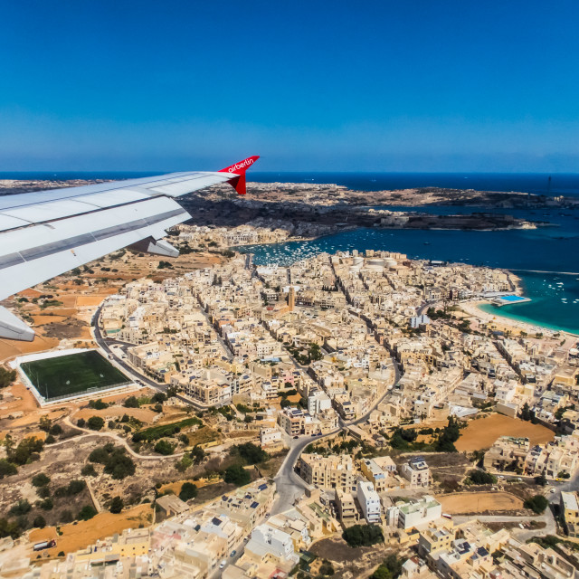"""Landing in Malta [3]"" stock image"