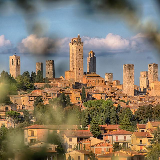 """San Gimignano Medieval Village, Italy, Europe"" stock image"