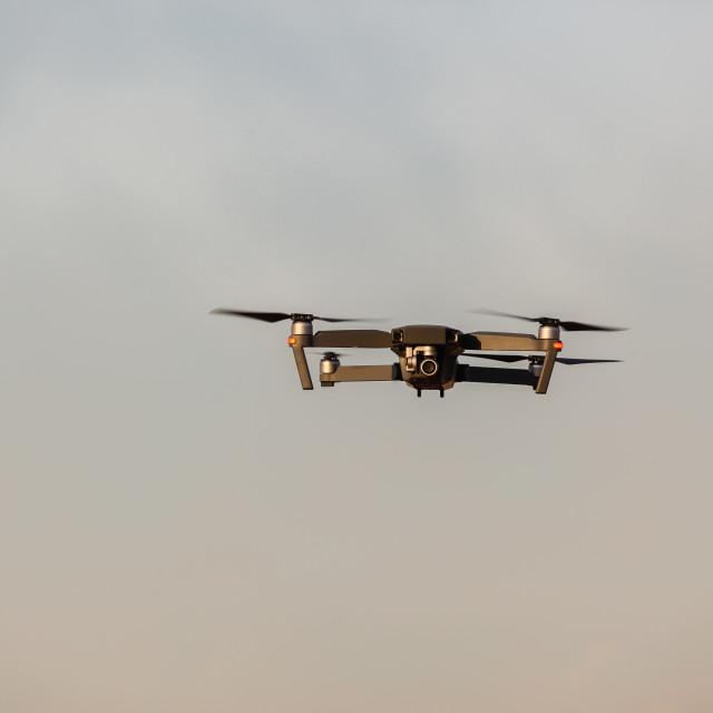 """Drone Camera Flying Closeup"" stock image"