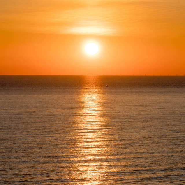 """Newhaven Sunset"" stock image"