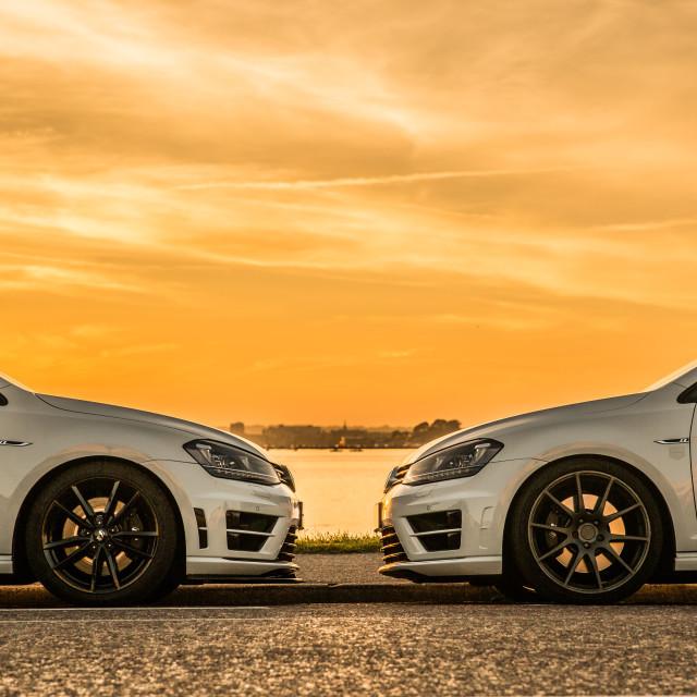 """VW Golf R Sunset"" stock image"