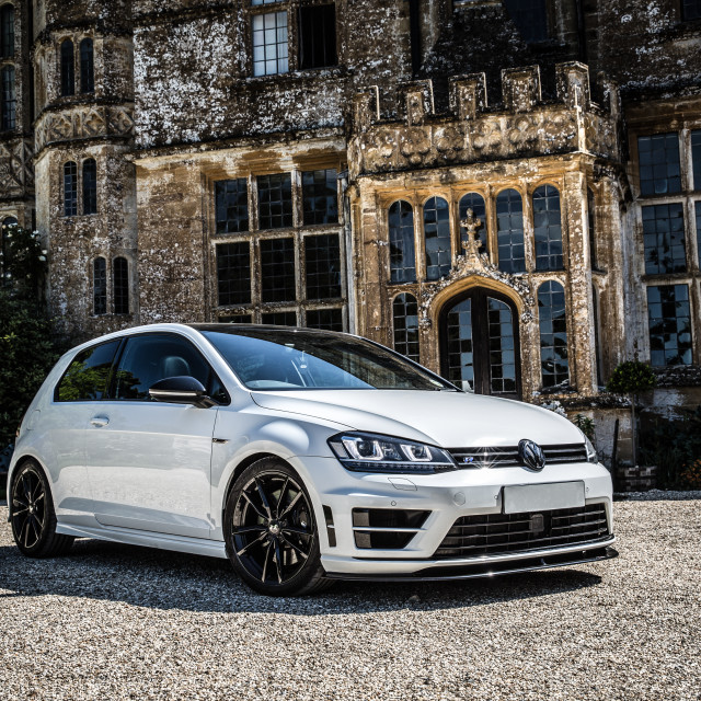 """VW Golf R"" stock image"