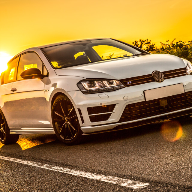 """VW Golf R Sunset"" stock image"