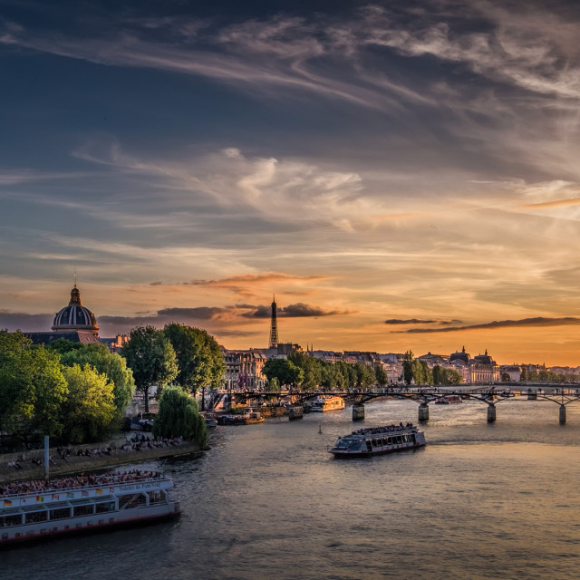 """Seine Sunset"" stock image"