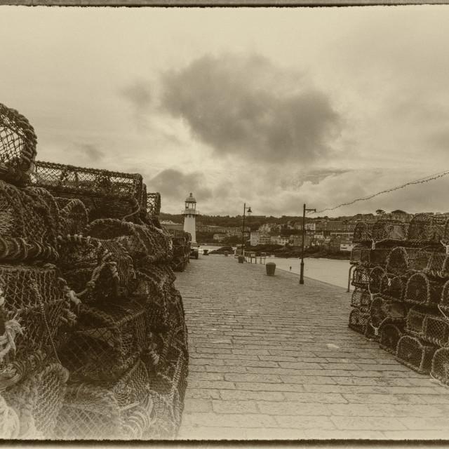 """St Ives, Smeaton pier"" stock image"