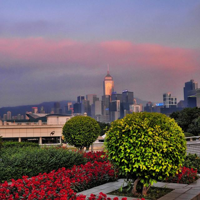 """""""Central Plaza, Wanchai, Hong Kong"""" stock image"""