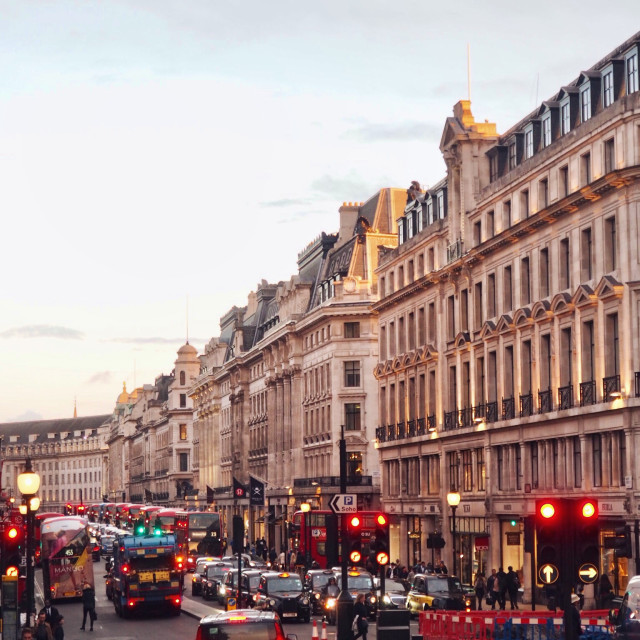 """Regent Street"" stock image"