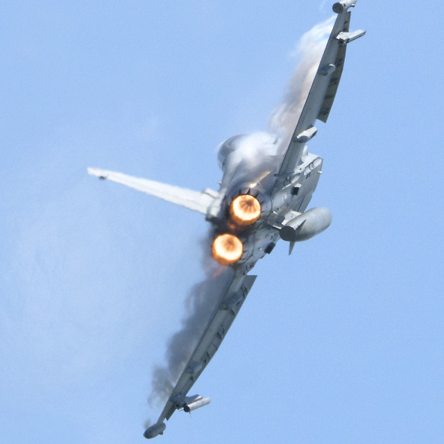"""RAF Typhoon Full Throttle"" stock image"