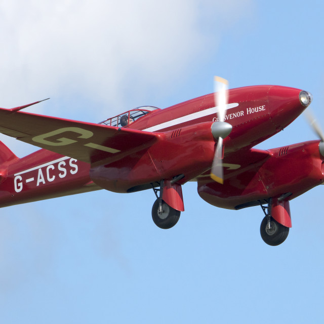 """de Havilland DH-88 Comet"" stock image"