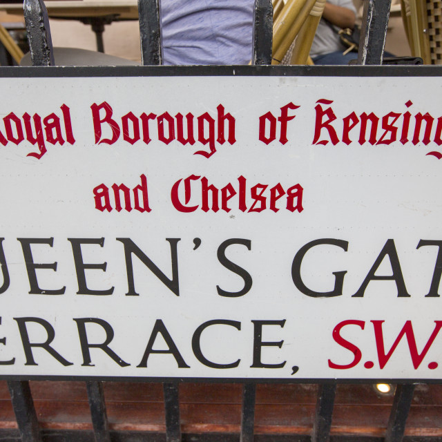 """""""Queens Gate terrace, an exclusive address of very expensive houses in SW7 ,..."""" stock image"""