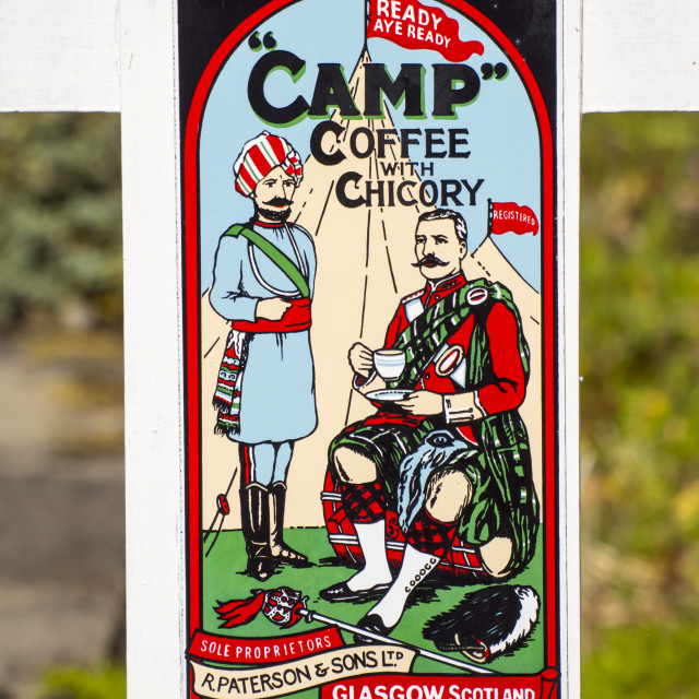 """An old advert for Camp Coffee."" stock image"