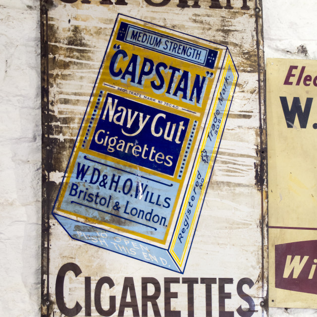 """An old advert for Capstan Cigarettes."" stock image"