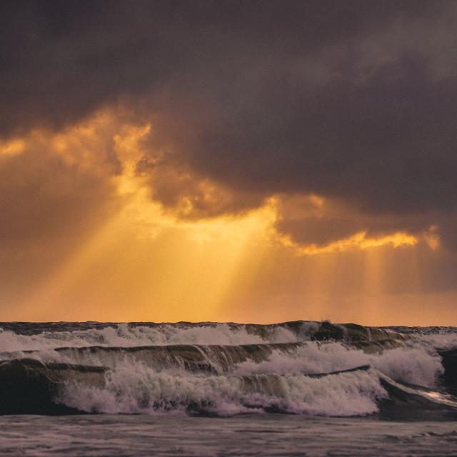 """Stormy Sea"" stock image"