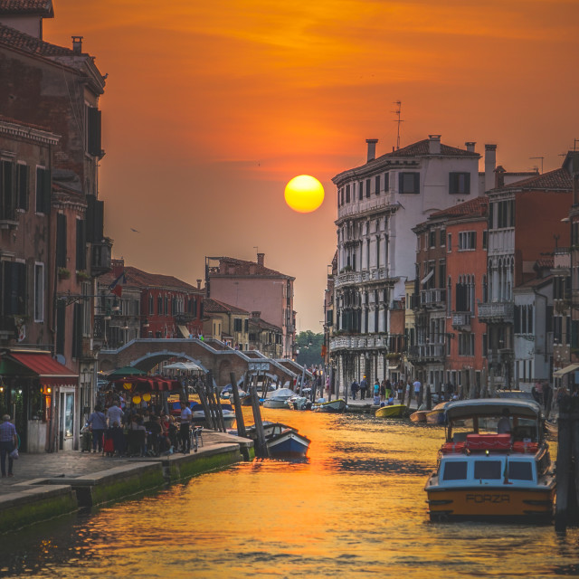 """Sunset in Venice, Italy"" stock image"