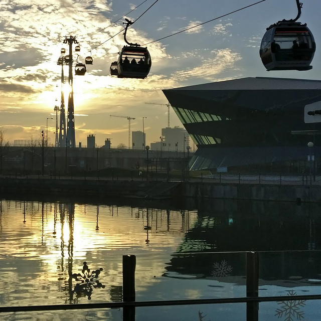 """Docklands Emirates Cablecar"" stock image"