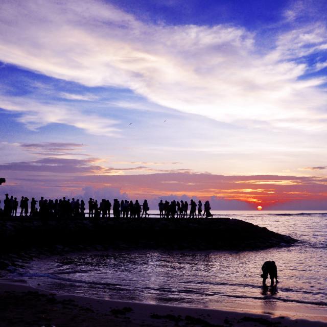 """Sunrise at Sanur Beach"" stock image"