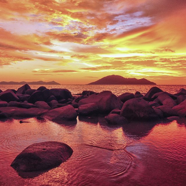 """The Rocky Beach"" stock image"
