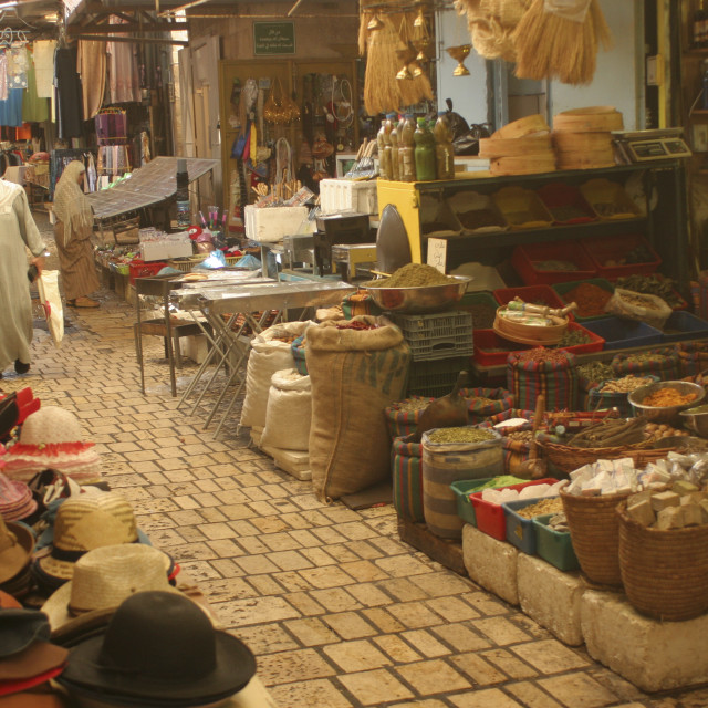 """""""Israel, Acre, The street Market"""" stock image"""