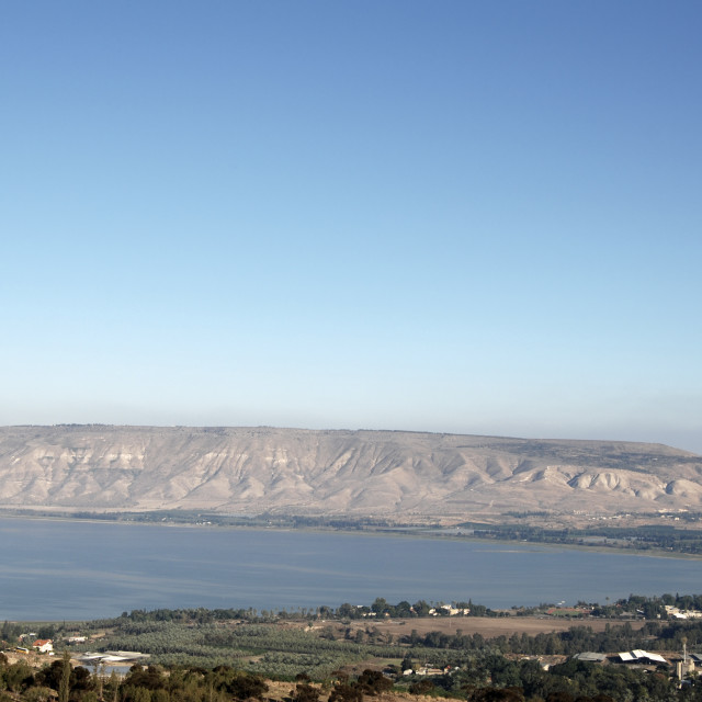"""""""Israel, Galilee, a view of the Sea of Galilee"""" stock image"""