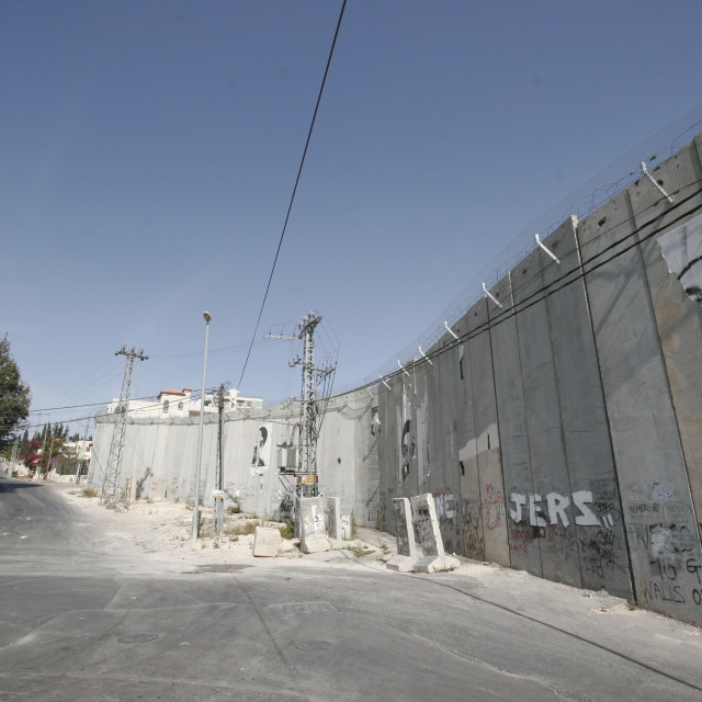 """Abu Dis, The Separation Wall"" stock image"