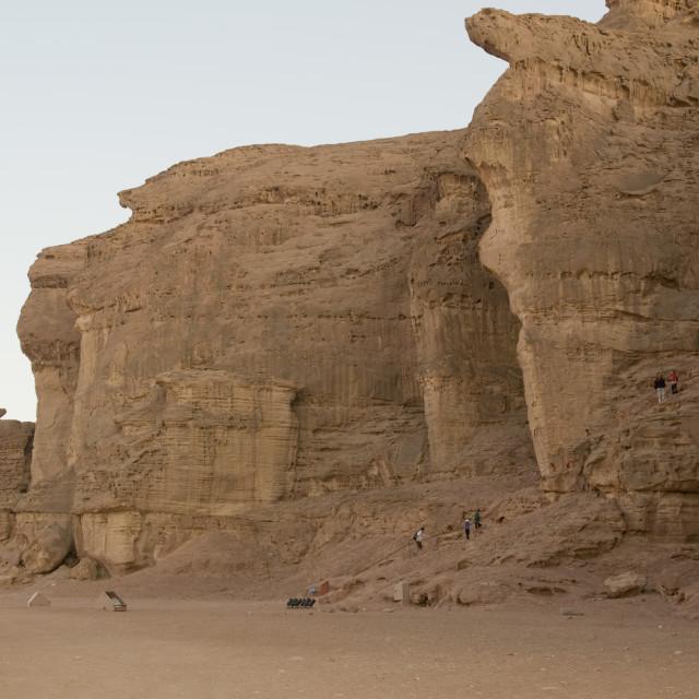 """Israel, Negev, Timna Valley, Solomon's Pillars"" stock image"