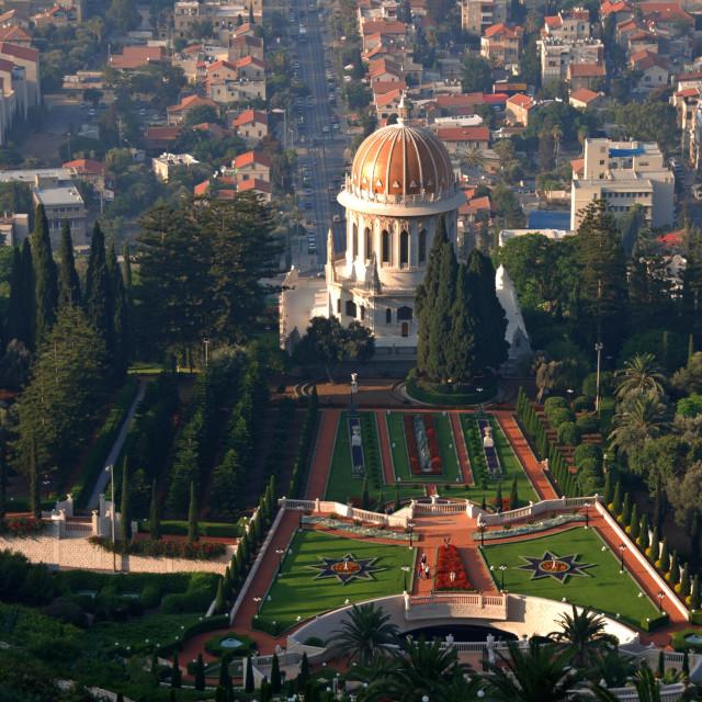 """Israel, Haifa, Shrine of the Bab"" stock image"