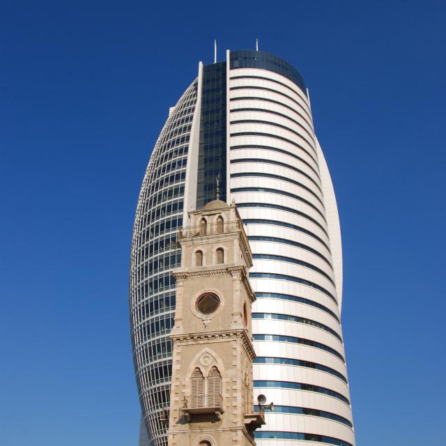 """""""Israel, Haifa, Sail Tower"""" stock image"""